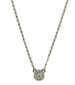 1928® Signature Silvertone Crystal Necklace
