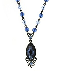 1928® Jewelry Jet Blue Navette Necklace