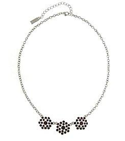 1928® Signature Silvertone Amethyst Purple Color Collar Necklace