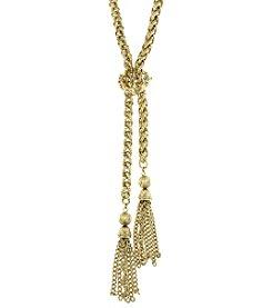 1928® Signature Goldtone Chain Tassel Necklace