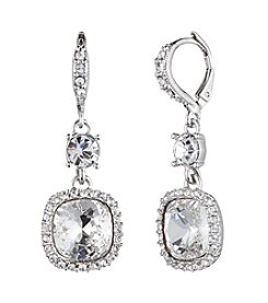 Givenchy® Silvertone Crystal Drop Earrings