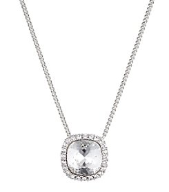 Givenchy® Silvertone Crystal Pendant Necklace