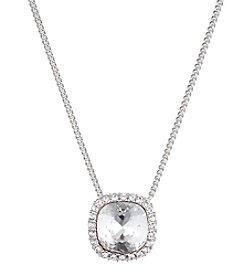 Givenchy® Silvertone Crystal Pendant Necklace