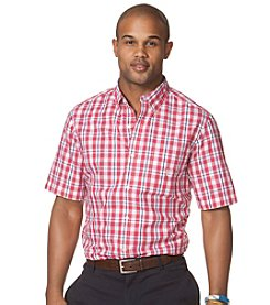Chaps® Men's Short Sleeve Wiliamson Woven Plaid Shirt