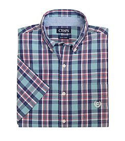 Chaps® Men's Short Sleeve Waters Plaid Woven Shirt