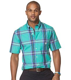 Chaps® Men's Short Sleeve Houndslake Plaid Shirt