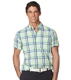 Chaps® Men's Short Sleeve Steadman Plaid Shirt