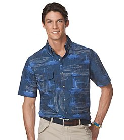 Chaps® Men's Short Sleeve Brandle Prnt Woven