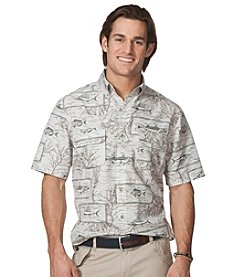 Chaps® Men's Short Sleeve Waldberg Prnt Woven