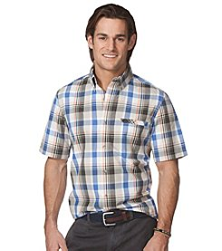Chaps® Men's Short Sleeve Timberland Plaid Woven