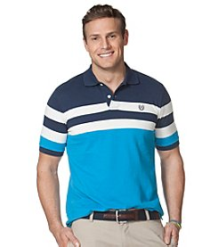 Chaps® Men's Short Sleeve Stripe Pique Polo