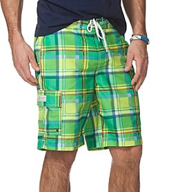 Chaps® Men's Plaid Swim Shorts