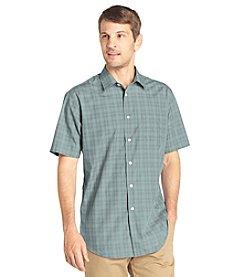 Van Heusen® Men's Short Sleeve Windowpane Noiron Woven