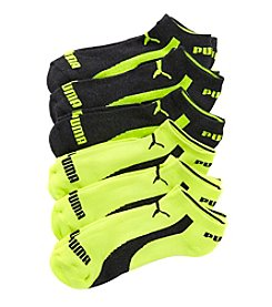 PUMA® Men's 6-Pack 1/2 Terry Form Stripe Low Cut Socks