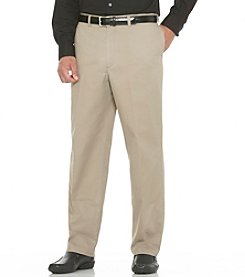 Savane® Men's Big & Tall Flat Front Performance Chino Pants