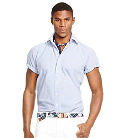 Polo Ralph Lauren® Men's Short Sleeve Seersucker Stripe Button Down