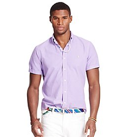 Polo Ralph Lauren® Men's Short Sleeve Oxford Button Down Shirt