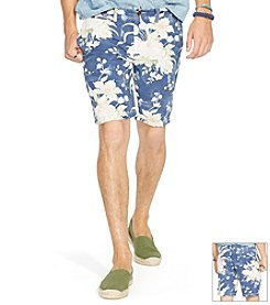 Polo Ralph Lauren® Men's Bleach Floral Flat Front Shorts
