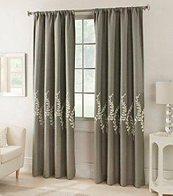 Kensington Home Jasmine Lined Rod Pocket Window Curtain