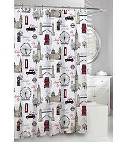 Moda at Home Westminster PEVA Shower Curtain
