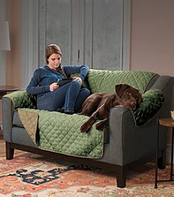 Home Fashions Hawthorne Plush Reversible Loveseat or Sofa Slipcover