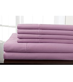 Elite Home Products Delray Solid 600-Thread Count Cotton Rich 6-pc. Sheet Set