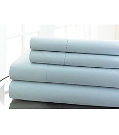 Elite Home Products Regency Hemstitch 600-Thread Count Sheet Set