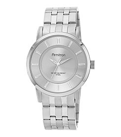 Armitron® Men's Silvertone Sunray Dial and Bracelet Watch