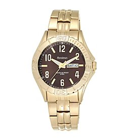 Armitron® Men's Day/Date Function Goldtone Bracelet Watch