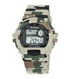 Armitron® Men's Camouflage Patterned Digital Chronograph Resin Strap Watch