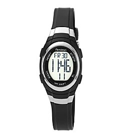 Armitron® Women's Digital Chronograph Black Resin Strap Watch