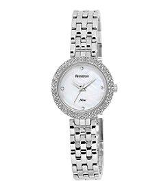 Armitron® Women's Swarovski Crystal Accented Silvertone Bracelet Watch
