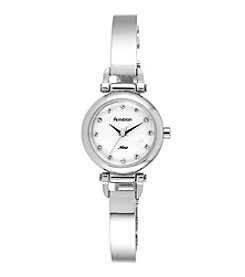 Armitron® Women's Swarovski Crystal Accented Silvertone Bangle Watch