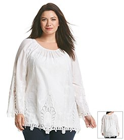 MICHAEL Michael Kors® Plus Size Eyelet Top