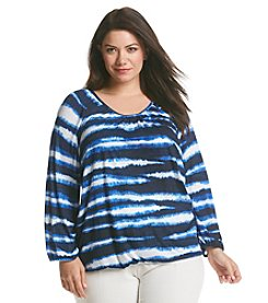 MICHAEL Michael Kors® Plus Size Stripe Peasant Top