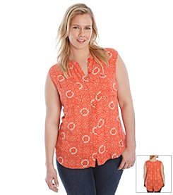Lucky Brand® Plus Size Printed Top