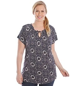 Lucky Brand® Plus Size Mosaic Top