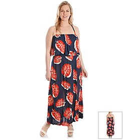 Lucky Brand® Plus Size Banana Leaf Maxi Dress