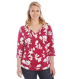 Lucky Brand® Plus Size Silho Vines Top