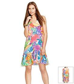 Lauren Ralph Lauren® Petites' Floral Ruffled Dress