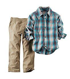 Carter's® Boys' 2T-4T 2-Piece Long Sleeve Plaid Set