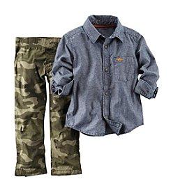 Carter's® Boys' 2T-4T Camo Pants Long Sleeve Set