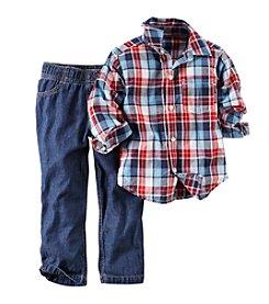 Carter's® Boys' 2T-4T Plaid Long Sleeve Plaid Set