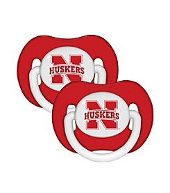 University of Nebraska Baby 2-Pack Pacifiers