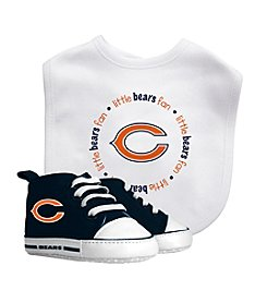 Chicago Bears Baby Bib And Shoe Set