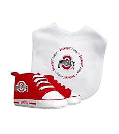 Baby Fanatic NCAA® Ohio State Baby Bib And Shoe Set