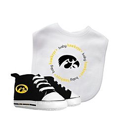 NCAA® Iowa Baby Bib And Shoe Set