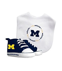 Baby Fanatic NCAA® University of Michigan Baby Bib And Shoe Set