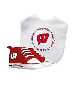 NCAA® University of Wisconsin Baby Bib And Shoe Set