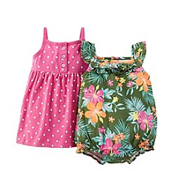 Carter's® Baby Girls' 3-24 Month 2-Piece Dress & Romper Set